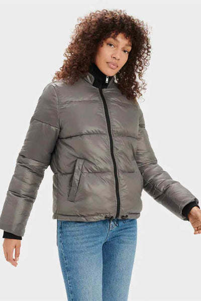 UGG - Izzie Puffer Jacket In Dark Grey - Apparel - S -  - Petticoat Lane