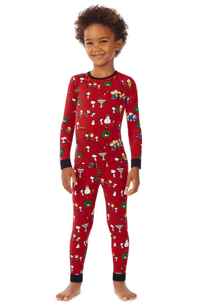 Bedhead - Peanuts Winter Fun Kids PJ Set - Sleepwear - {{variant_option_1}} - {{variant_option_2}} - Petticoat Lane