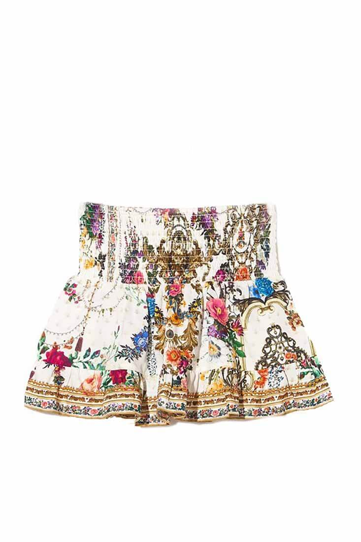 By The Meadow Kids Shirring Waist Skirt