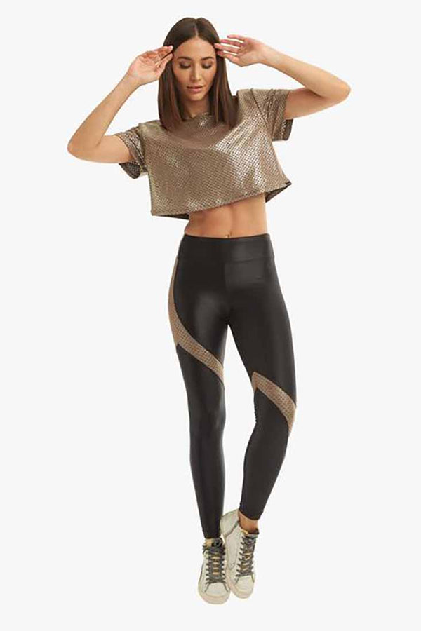 Koral Venus Infinity High Rise Legging - Black/Cafe