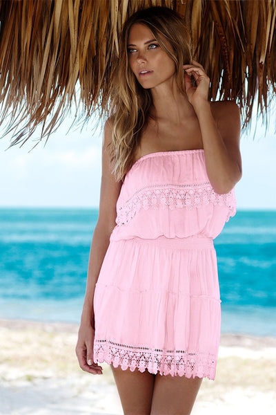 Melissa Odabash - Joy Strapless Cover Up in Blush - Swimwear - XS -  - Petticoat Lane