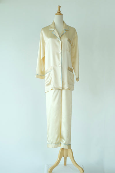 COCOON - June Silk PJ Set - Sleepwear - {{variant_option_1}} - {{variant_option_2}} - Petticoat Lane