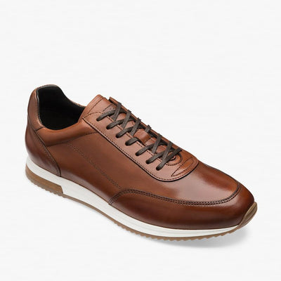 Loake Bannister Leather Trainers in brown