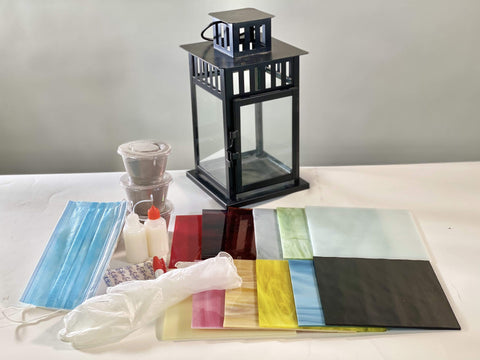 Cindy Laneville - Mosaic Artist Lantern DIY Kit - no tools