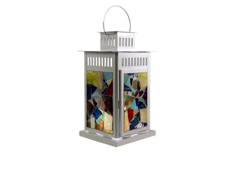 "Cindy Laneville - Mosaic Artist Lanterns Did you say a ""pop"" of colour!"