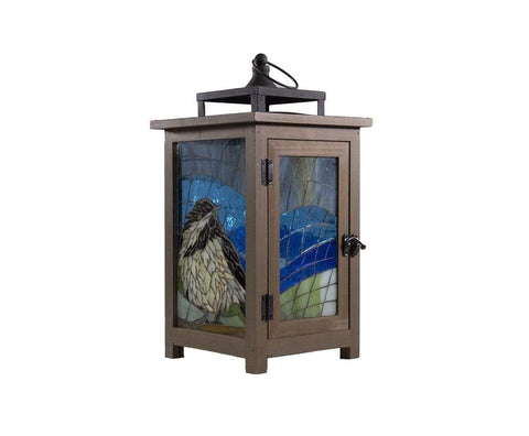 Cindy Laneville - Mosaic Artist Lanterns Hey Little Chickadee dee dee