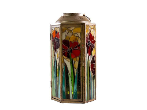 Cindy Laneville - Mosaic Artist Lanterns Poppies everywhere!