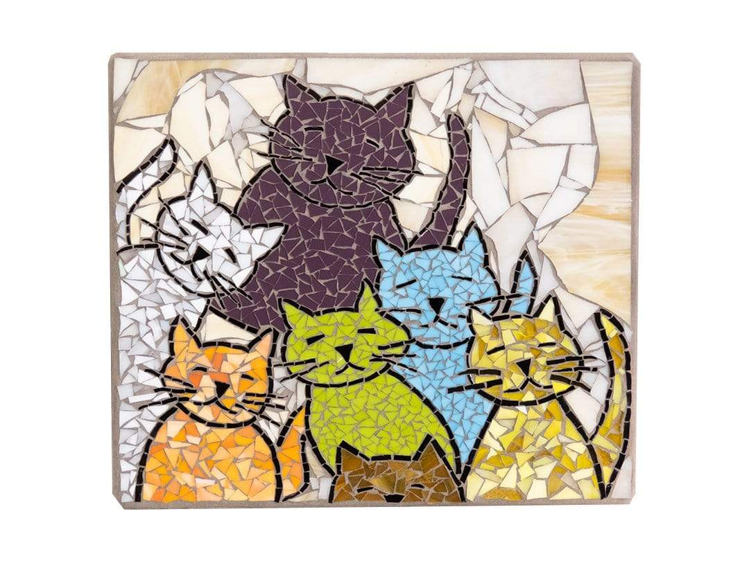 Cindy Laneville - Mosaic Artist wallart Cats are like potato chips!