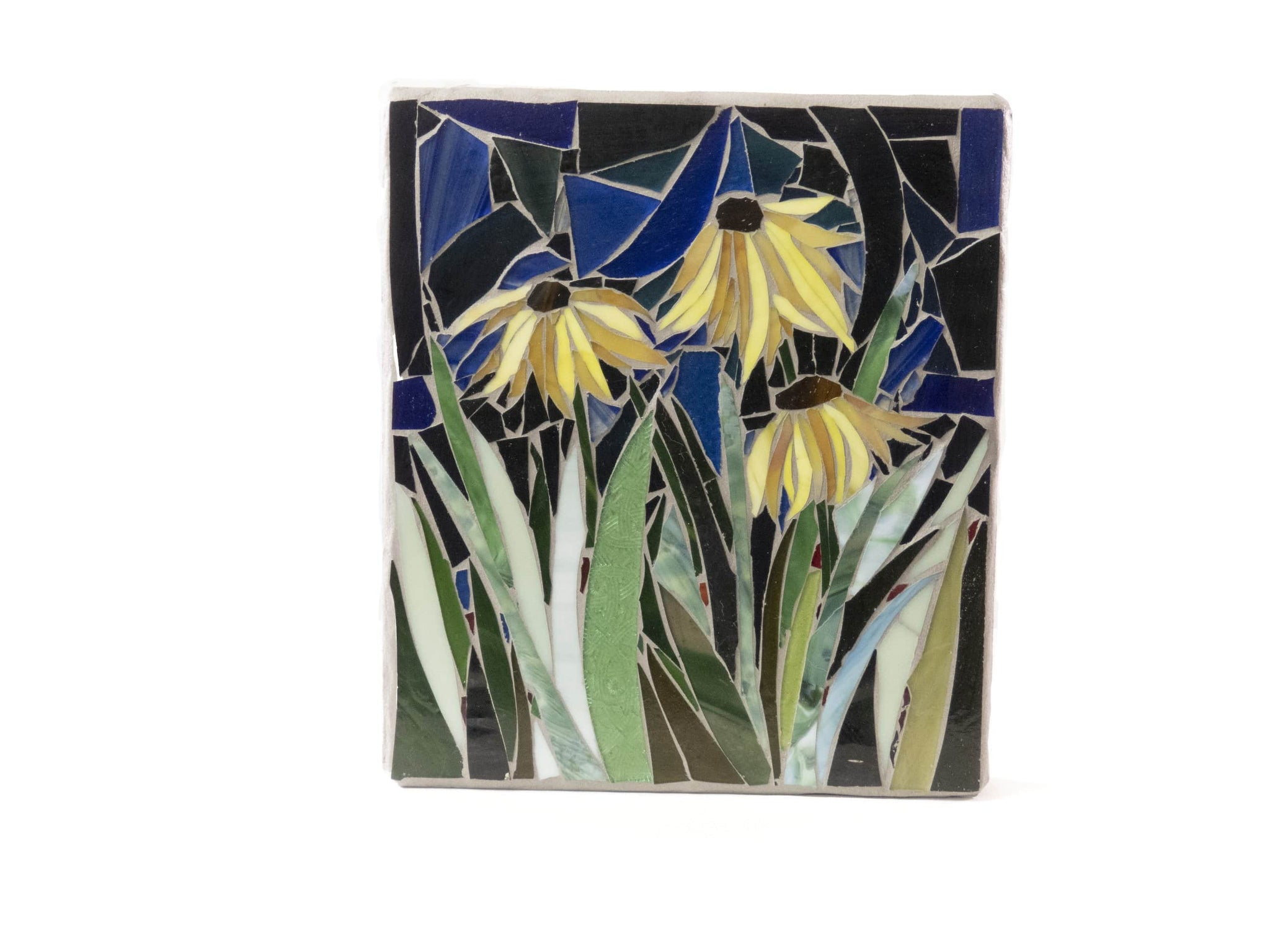 Cindy Laneville - Mosaic Artist wallart Yellow flowers never fade!