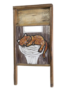 Cindy Laneville - Mosaic Artist washboard Washboard Sink Kitty