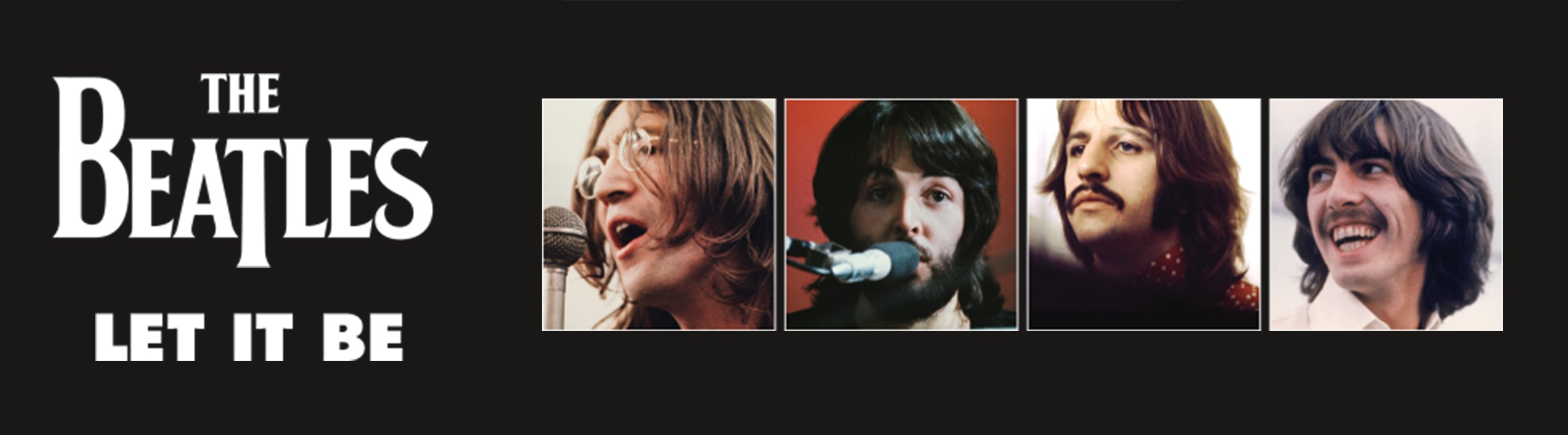 The Beatles Let It Be Banner
