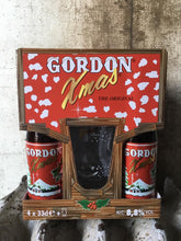 Load image into Gallery viewer, Gordon's Christmas Beer and Glass gift set