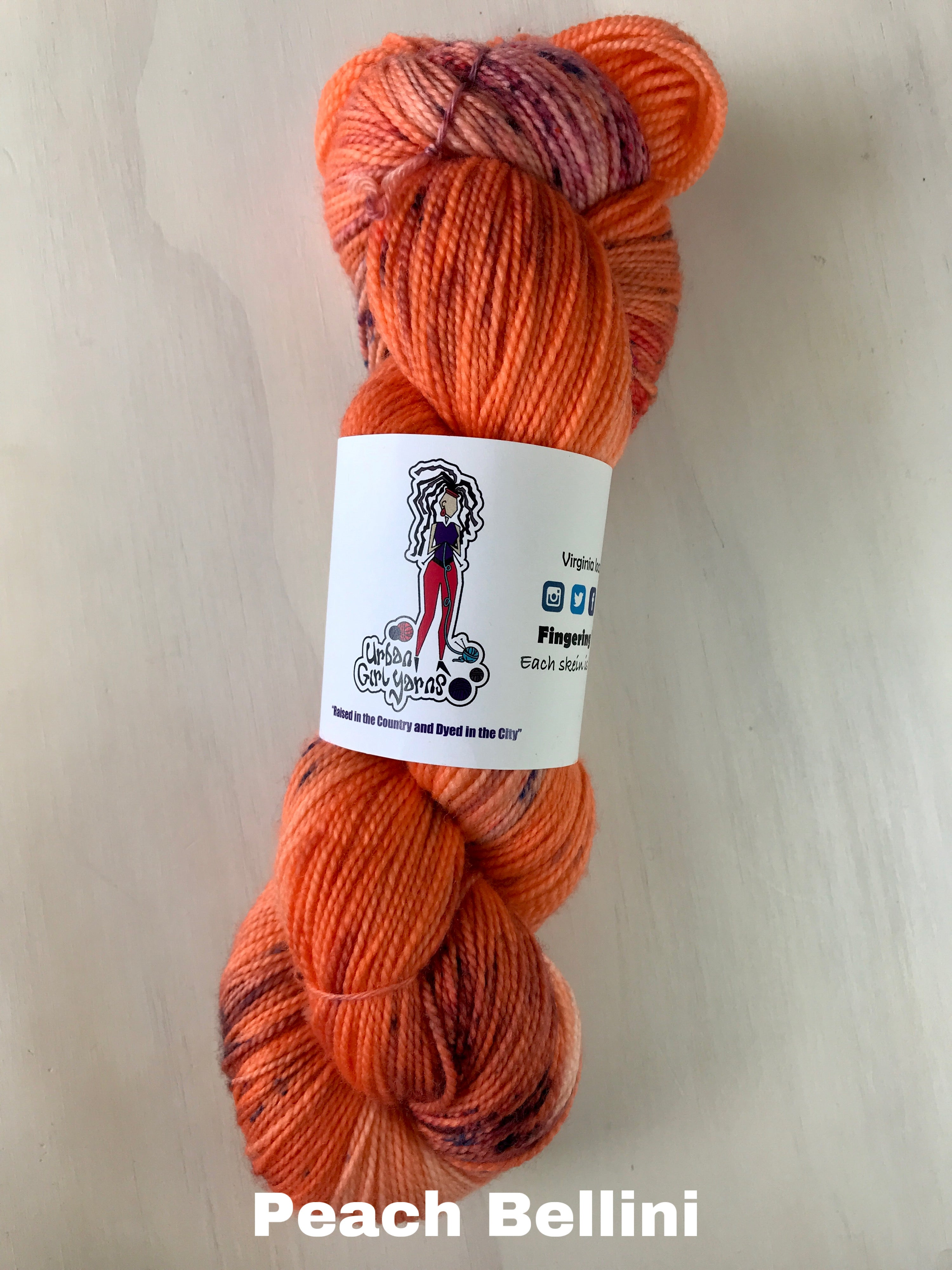 Urban Girl Yarns Virginia Fingering