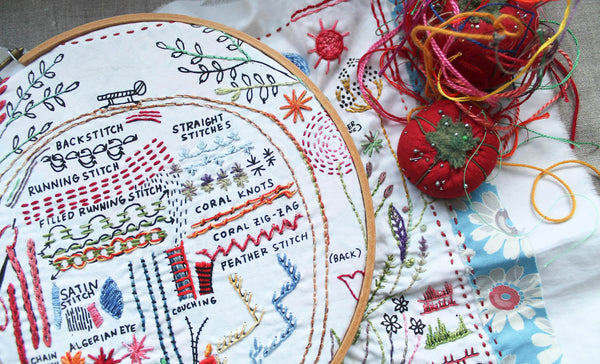 Embroidery Dropcloth Sampler Class