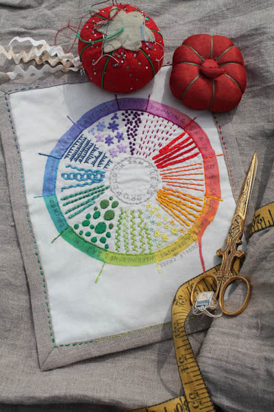 Dropcloth Samplers Drawing Color Wheel Sampler