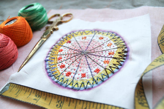 Dropcloth Samplers Drawing Starburst Sampler