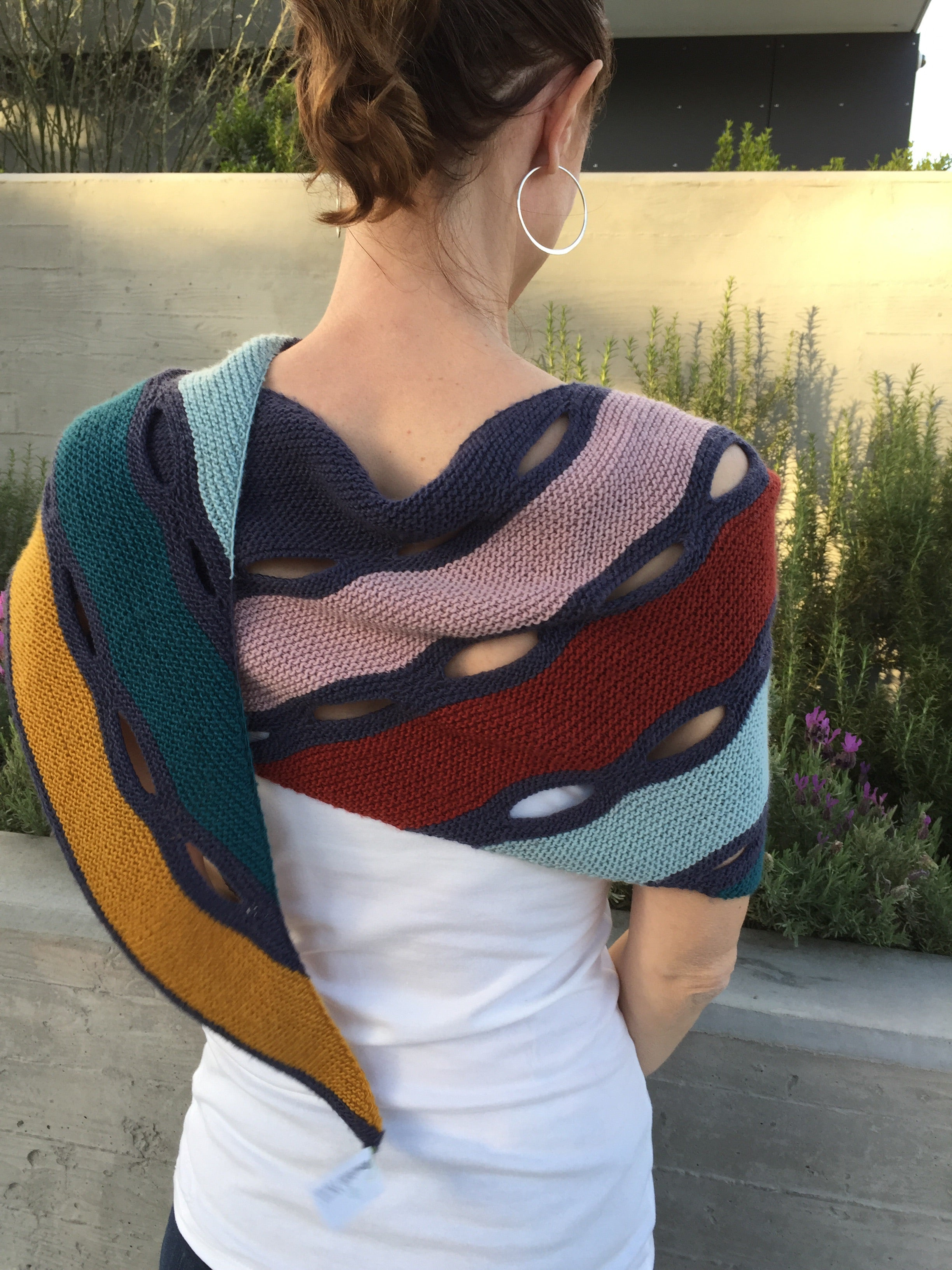 Color My Stripes Shawl Kit