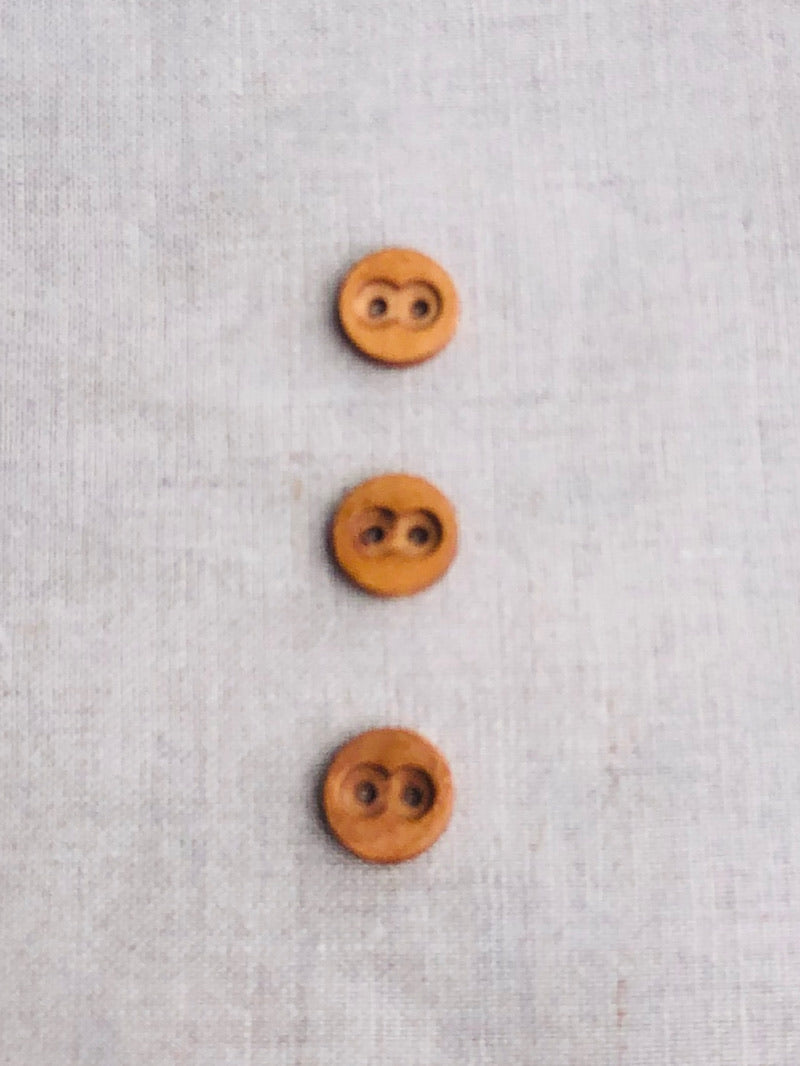 Carved Wood Buttons