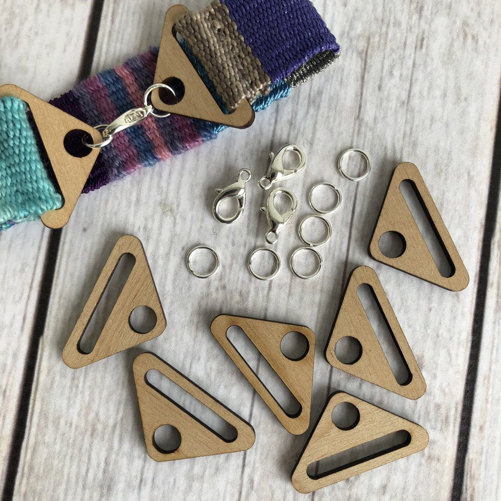 Purl & Loop Wood Bracelet Findings with Silver Plate Hardware