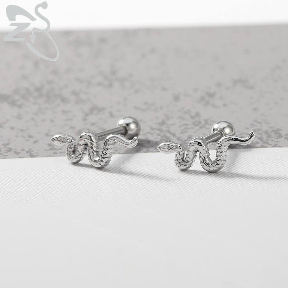 [NEW] Punk Snake Stud Ear & Nose Piercing Body Jewelry