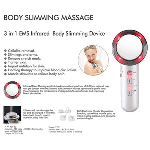 [NEW] Multitalented Ultrasonic Infrared Body Slimming Facial Beautifying Massager