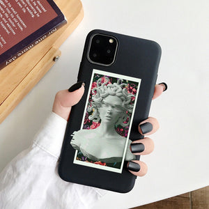 [NEW] Stylish Art Work Design Black Soft Case Cover - iPhone 12 Series