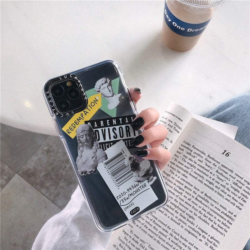 [NEW] Funny & Cool Fashion Art Clear Soft Case - iPhone 12 Series