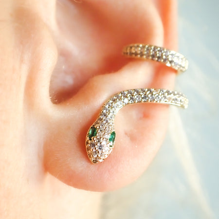 One-of-a-Kind Snake Ear Crawler Stud Earring - Design Jewelry