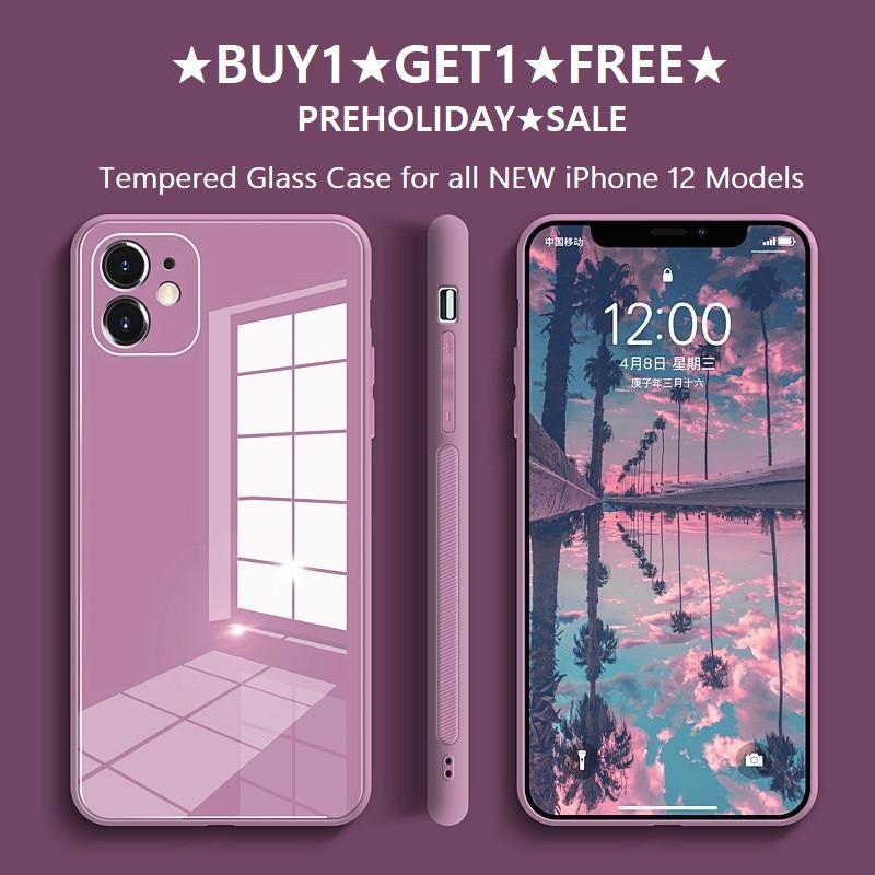[NEW] Stylish & Durable Tempered Glass Phone Case - iPhone 12 Series
