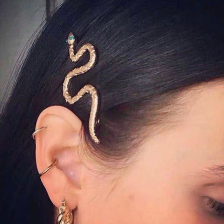 Unique & Stylish Snake Shaped Designer Fashion Bobby Pin