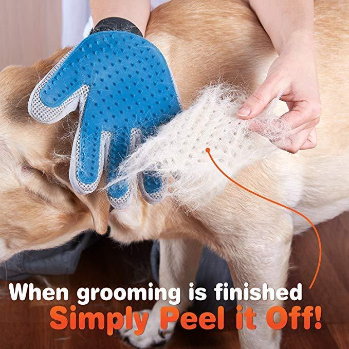 [NEW] Amazing Pet Grooming Gloves for HAPPY DOGS & CATS!