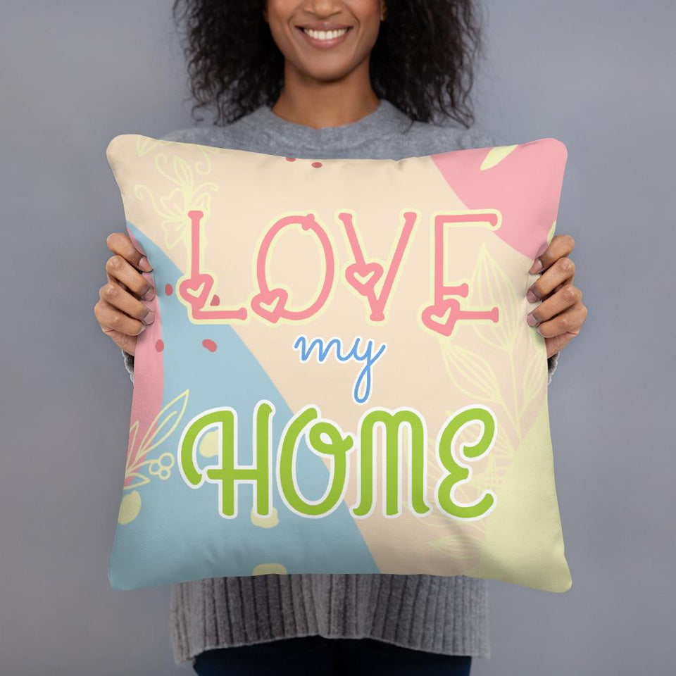 [NEW] Joyful LOVE♥MY♥HOME / SAFE♥AT♥HOME Double-Sided Quality Throwback Pillows