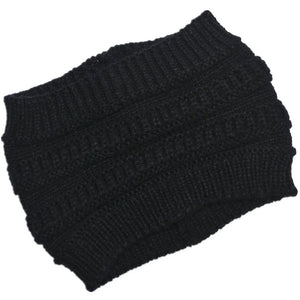 Practical Knitted Ponytail Beanie Cap