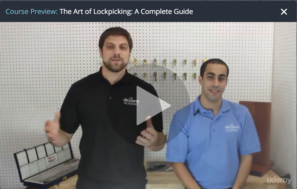 Lock Picking Course on Udemy