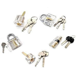 Clear Transparent Practice Locks - 5 Pack