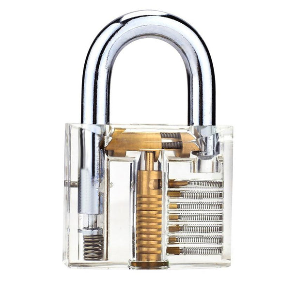 Clear Transparent Padlock Practice Lock