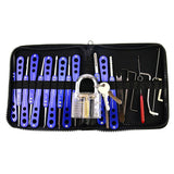 H&H 20-in-1 Lock Picks Set Transparent Practice Padlock Bundle