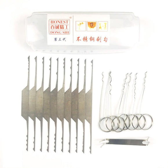 Superb 10 Piece Wave Lock Rake Set