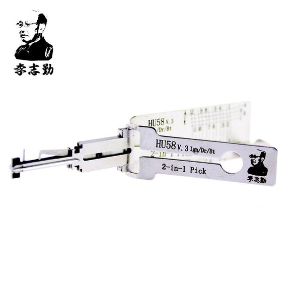 Mr. Li's Original Lishi HU58 V.3 2in1 Decoder and Pick for BMW