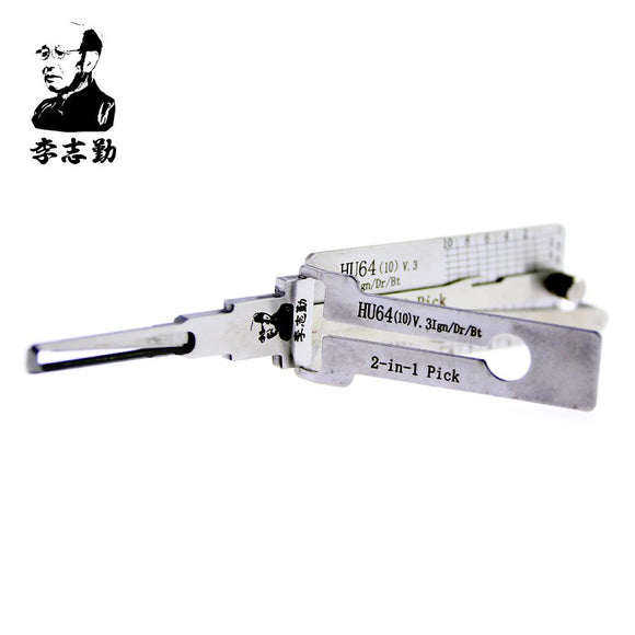 Mr. Li's Original Lishi HU64 V.3 2in1 Decoder and Pick for Mercedes