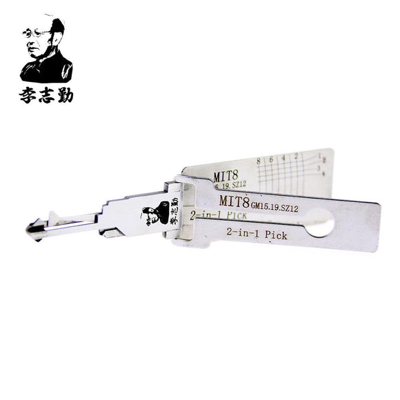 Mr. Li's Original Lishi MIT8 (GM15/GM19/SZ12) 2in1 Decoder and Pick for Mitsubishi