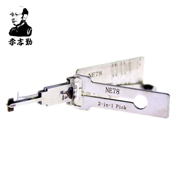 Mr. Li's Original Lishi NE78 2in1 Decoder and Pick for Peugeot