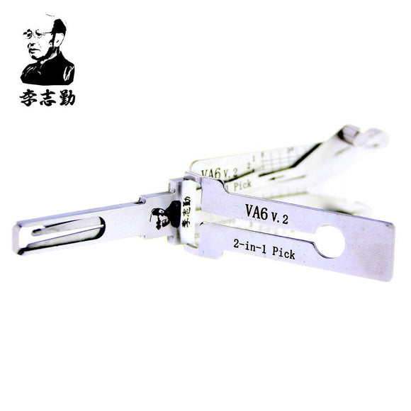 Mr. Li's Original Lishi VA6 V.2 (4 Lifters) 2in1 Decoder and Pick for Citroen, Peugeot, Renault