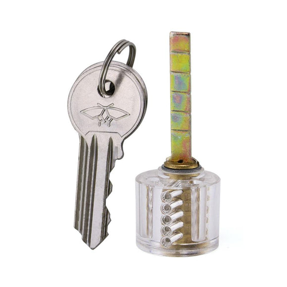Clear 5 Pin Rim Cylinder Practice Lock
