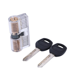 Visible 7 Pin Dimple Practice Cylinder Lock