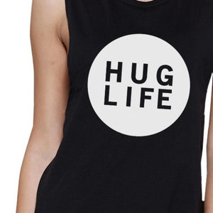 Hug Life Women's Black Muscle Top