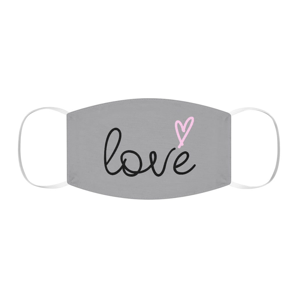 Love Face Mask (Grey)