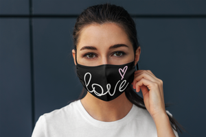 Love Face Mask (Black)