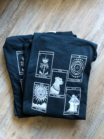 Five Card Tarot Spread Long Sleeve Shirt