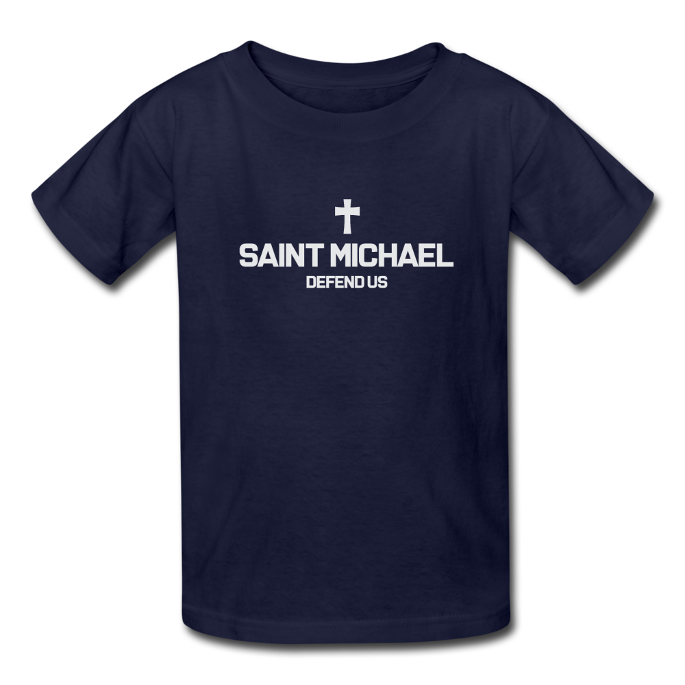 Saint Michael Youth Teen Tee - navy